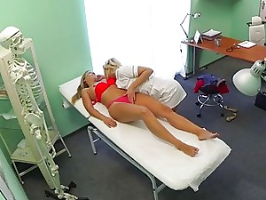 Perverted nurse sexually tempts fresh patient