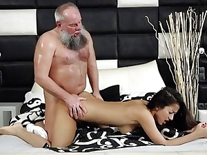 Young Busty Teen Takes Facial From Grandpa