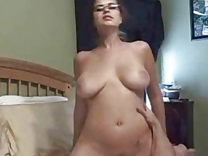 Fledgling Stunner With Glasses Cowgirl  Sex