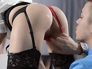 Handsome assistant Sheri Vi penetrates her chief
