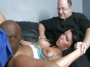 Old dude cant bang his wifey but black dude can!