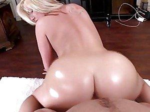 Milky nymph with a ample bum tear up hard