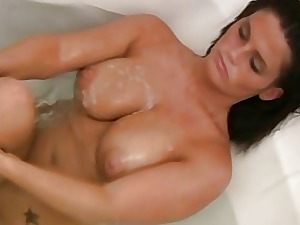 My Super-steamy Mother Filmed Bare In The Bathroom