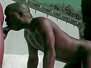 Super hot Dark-hued Homo Gangsta do Ass fucking Fuckin' Outdoor