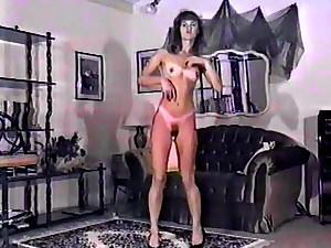 Vintage 80s skinny hairy strip dance