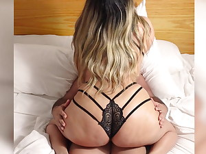 PERFECT ASS! Latina Cowgirl Riding Stepson's Dick