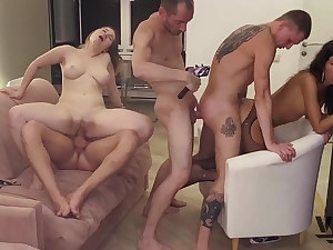 Image SESSION THAT Revved INTO A BISEXUAL ORGY (4)